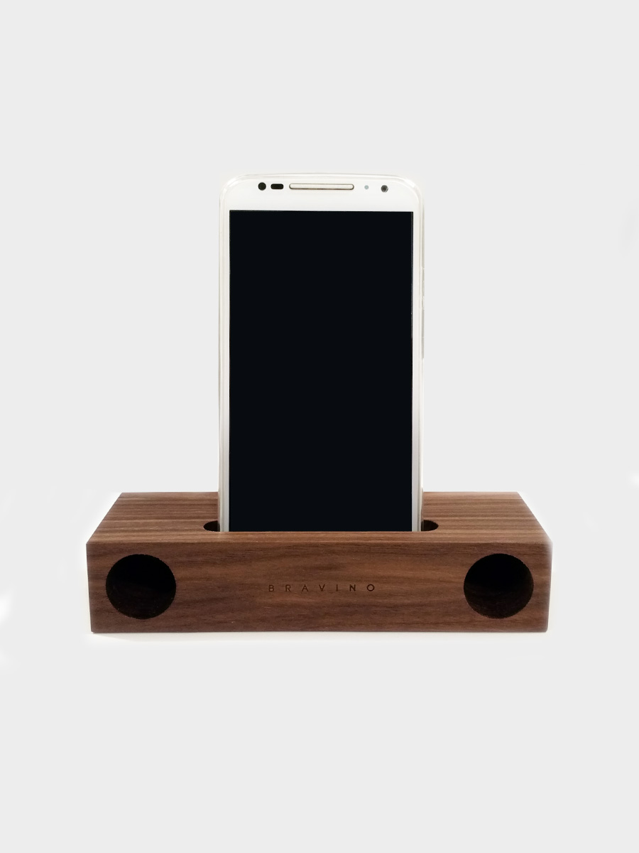 Natural Wood Acoustic Amplifier Walnut
