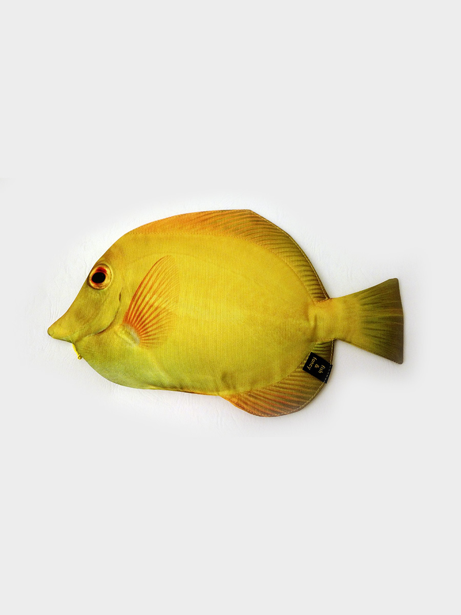 Yellow Tang Fish Pencil Case