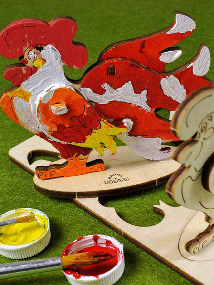 3D Puzzle Cockerel